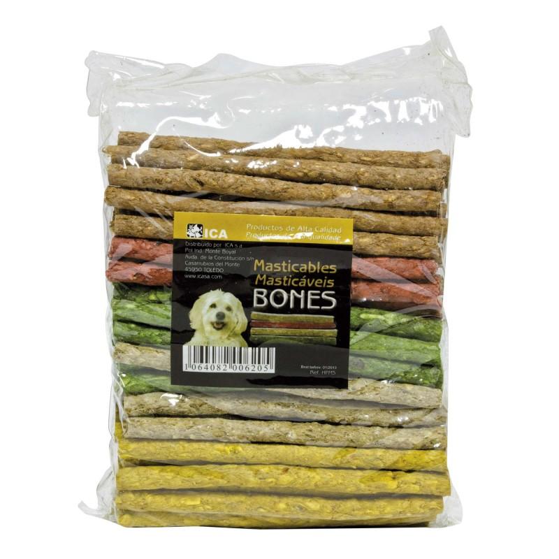 Barritas masticables de colores en bolsa