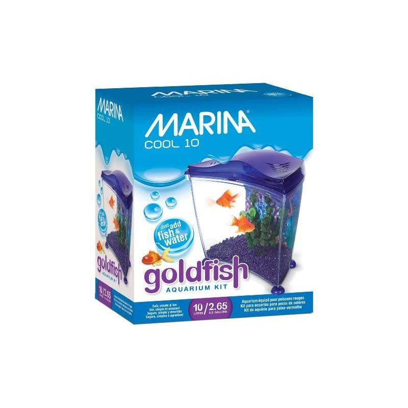 Marina Kit Cool Goldfish, 10 L, Color Púrpura